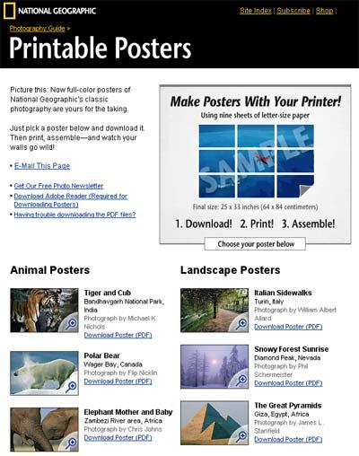 Collezione di poster gratis da scaricare stampare e assemblare