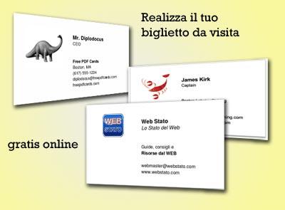 Crea biglietti da visita online terminali antivento per for Come costruire un programma online casa gratuitamente